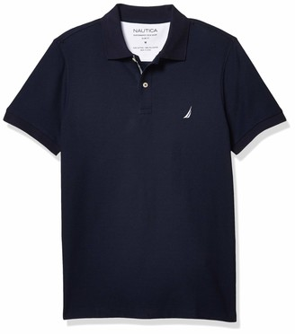 Nautica Men's Slim Fit Short Sleeve Solid Polo Shirt