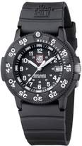 "Luminox Original Navy SEAL"" Black and White Signature PU Strap Watch"