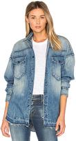 PRPS Goods & Co Oversized Denim Button Up Shirt