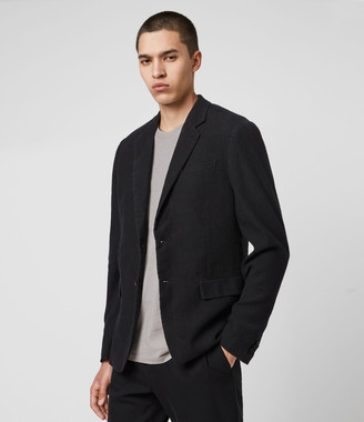 AllSaints Baron Linen Blend Blazer