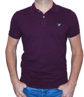 American Eagle Outfitters Mens Classic Fit Mesh Solid Polo T-shirt