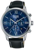 Pulsar Black Dial Bracelet Dress Chronograph Watch Pt3809x1