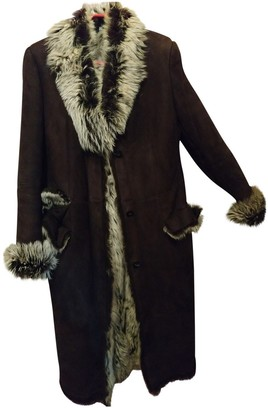 Gucci Brown Shearling Coat for Women Vintage