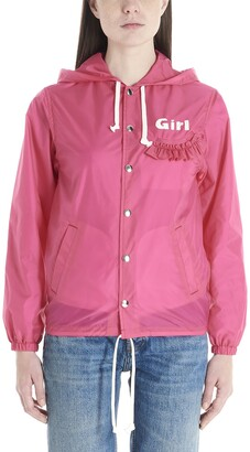 COMME DES GARÇONS GIRL Logo Hooded Jacket