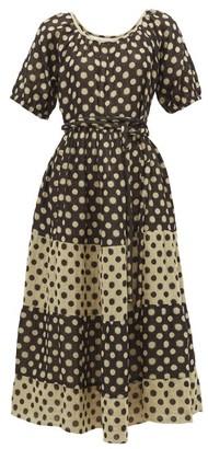 Ace&Jig Noah Tiered Cotton-jacquard Midi Dress - Womens - Black Multi
