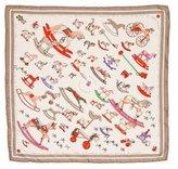 Hermes Reconte-Moi Le Cheval Silk Pocket Square