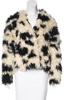 Tibi Long Sleeve Faux-Fur Jacket