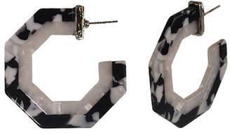 Bijoux Bar Resin Hoop Earrings
