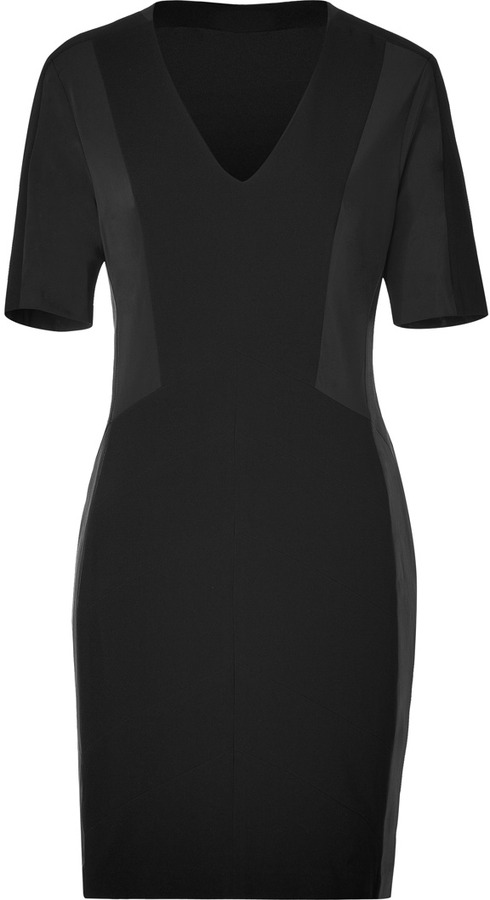 Rag and Bone Rag & Bone Black Leather Panel Dress