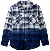 Lucky Brand Dip Dye Plaid Shirt (Big Boys)