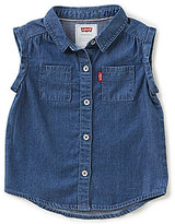 Levi's Baby Girls 12-24 Months Rolled Sleeve Denim Top