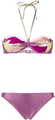 Adriana Degreas Applique Floral Bikini