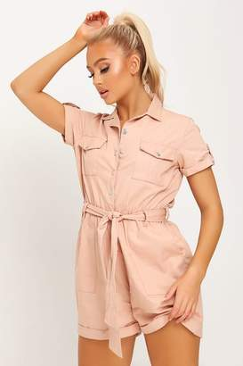 I SAW IT FIRST Nude Utility Playsuit