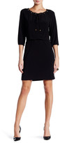 Nine West 3/4 Length Sleeve Blouson Dress