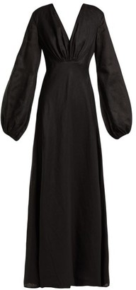 Kalita Utopia Linen Maxi Dress - Black