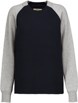 Current/Elliott Two-tone cable-knit wool and cotton-blend sweater