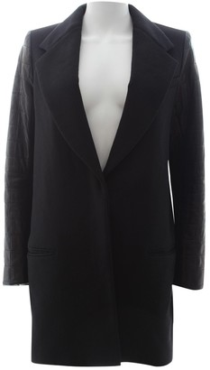 The Row Black Wool Coat for Women