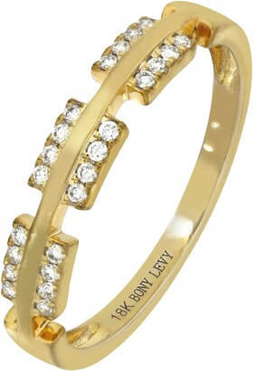 Bony Levy Kiera Diamond Bar Stacking Ring