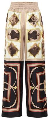 Burberry Printed silk pants