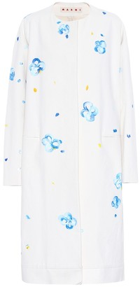 Marni Painted cotton-blend coat