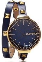 RumbaTime Orchard Double Wrap Midnight Blue Analog Display Japanese Quartz Watch