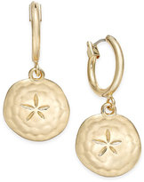 Charter Club Gold-Tone Sand Dollar Drop Earrings, Only at Macy's