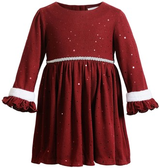 Youngland Baby Girl Knit Ruffled Dress
