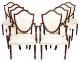Baker Satin Shield-Back Dining Chairs