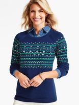 Talbots Fireside Fair Isle Sweater