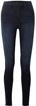 J Brand Carolina 32 High-rise Skinny Jeans - Dark denim