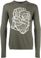 Etro heart intarsia jumper - men - Cotton/Cashmere - S