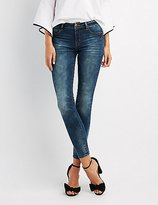 Charlotte Russe Refuge Low-Rise Skinny Jeans