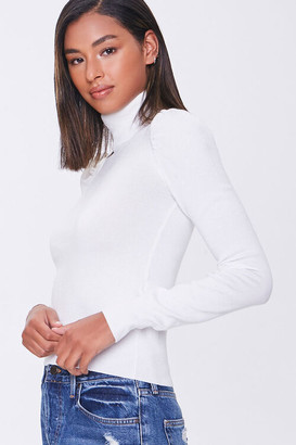 Forever 21 Turtleneck Ribbed-Trim Sweater