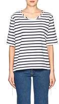 MM6 MAISON MARGIELA Women's Striped Inside-Out Cotton T-Shirt