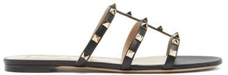 Valentino Rockstud Leather Sandals - Black