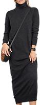 Hush Hera Merino Wool Maxi Dress, Charcoal Marl