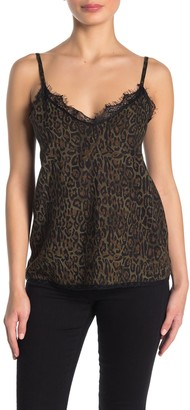 RD Style Printed Lace Trim Camisole