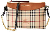 Burberry Haymarket Check & Leather Clutch Bag