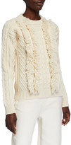 Tory Burch Andean Highland Wool Textured Sweater