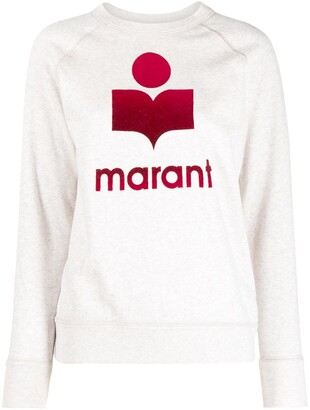 Etoile Isabel Marant Logo-Print Long-Sleeved Sweatshirt