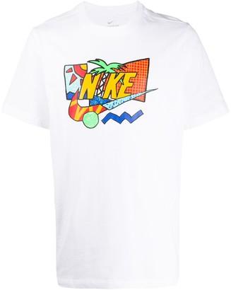 Nike logo print cotton T-shirt