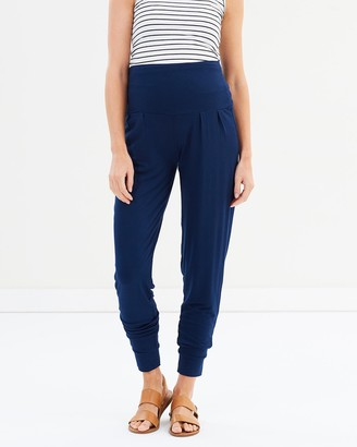 Bamboo Body - Women's Navy Sweatpants - Softline Slouch Pants - Size One Size, XS at The Iconic