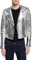 IRO Axelle Metallic Leather Motorcycle Jacket