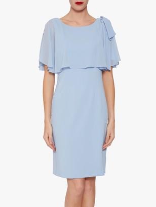 Gina Bacconi Krissy Crepe Dress, Nordic Blue