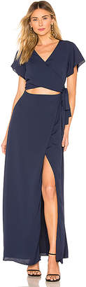 superdown Casey Wrap Maxi Dress