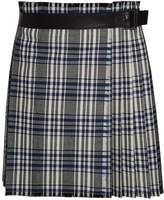 Alexander McQueen Plaid pleated wool skirt