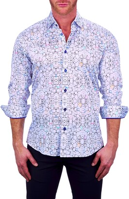 Maceoo Fibonacci Regular Fit Print Button-Up Shirt