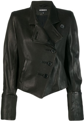 Ann Demeulemeester asymmetrical leather jacket