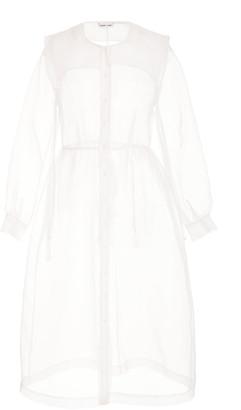 Sandy Liang Pilgrim Sheer Long Sleeve Dress