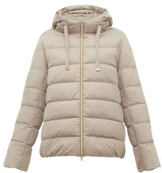 Herno Hooded Quilted Down Jacket - Womens - Beige